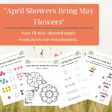 """April Showers..."" Spring / Flower Themed Math Worksheets"