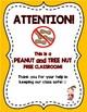 ALLERGY SIGNS for the Classroom