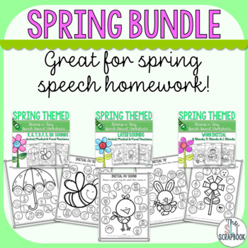 Spring Speech and Language Therapy Bundle- Print and Go!
