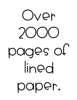 Lined Paper - Over 2000 Pages