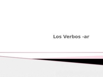-Ar Verb Power Point