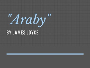 """Araby"" by James Joyce Close Reading/ Reader Response Lesson"