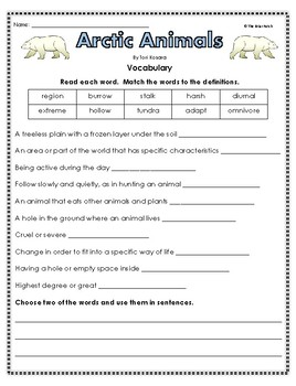 """Arctic Animals"" Activities For Guided Reading, Listening Center, or Follow Up"