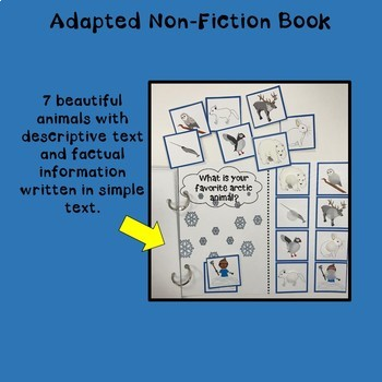 """""""Arctic Animals"""" An Adapted Interactive Non-Fiction Book"""