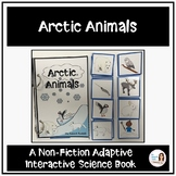 """Arctic Animals"" An Adapted Speech Therapy Science Book for Winter"