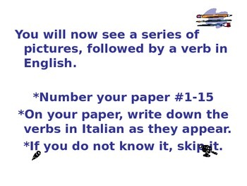 -Are Italian Verb Power Point
