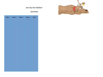 """Are You My Mother"" Graphic Organizers"