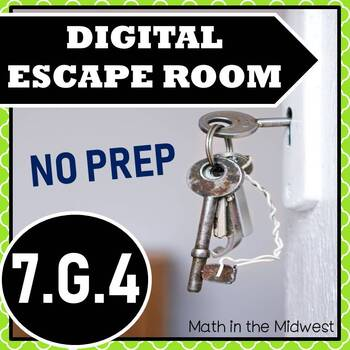⭐Area & Circumference of a Circle Escape Room⭐7.G.4 Activity