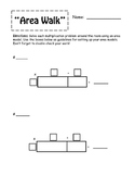"""Area Walk""--Multiplication using Area Model -- CCRS and D"