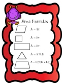 **Area of Polygons Formulas Freebie**