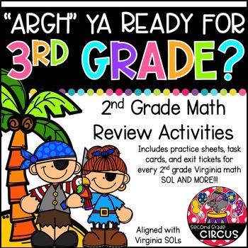 'Argh' Ya Ready for 3rd Grade? (2nd Grade Math Review)
