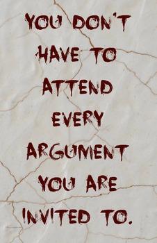 """Argument"" Classroom 11 x 17 Poster Classroom Management Character Ed PBIS"