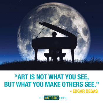 """""""Art Is Not What You See"""" Printable Poster (8.5 x 11)"""