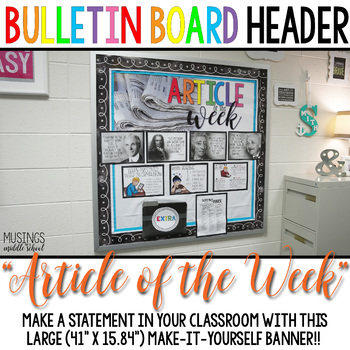 """Article of the Week"" Large Banner Classroom Decoration"