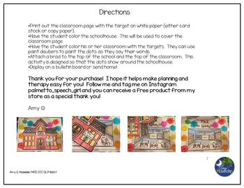 """Articulated"" Back to School Speech Therapy All Sounds Print and Go"