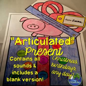 """Articulated"" Present All Articulation Sounds Print & Go"