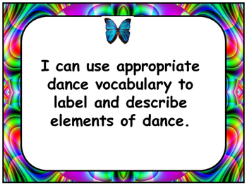 Arts Education: Dance Grade 2 I Can Statements