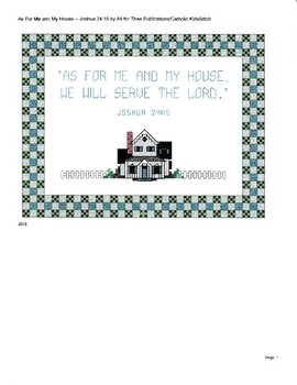 """As for Me and My House..."" CrossStitch Pattern"
