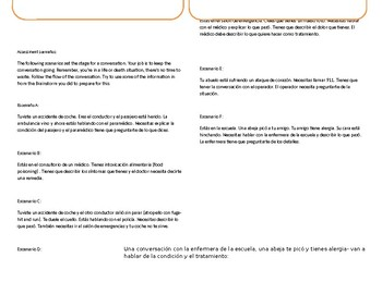 ¡Así se dice! 3 2 ASD 3.2 Interpersonal Conversation Speaking Task Role Play