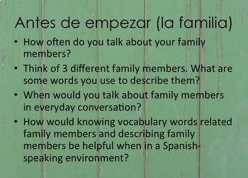¡Así se dice! Capítulo 2 La familia y la casa Vocabulary Powepoint
