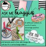 """Ask Me"" Badgies: Cutouts Version"