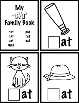 -At Family and Phonemic Awareness Interactive Book