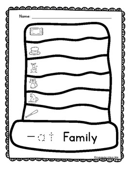 -At Family Word Hat Printable