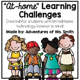 """At Home"" Learning Challenges for Kids with Limited technology!"