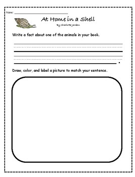 """""""At Home in a Shell"""" Guided Reading Program Activities"""