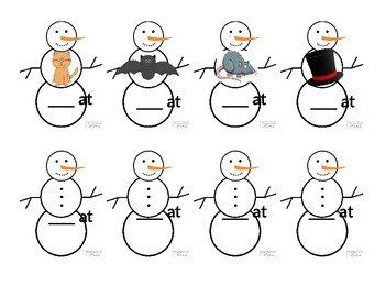 -At Snowman Word Family