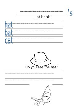 -At Word Family Activities/Literacy Station Ideas