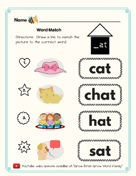 -At Word Family Kit 30 pages (Blend Seg CVC) Transitional K, K, 1st, 2nd