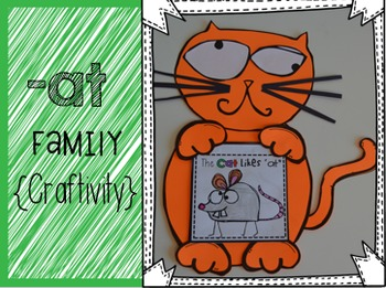 """At"" Word Family {Craftivity}"