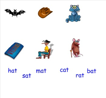 -At Word Family Smartboard Activties