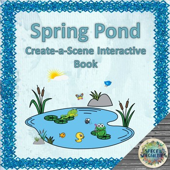 'At the Pond' Spring-themed Create-a-Scene Interactive Book