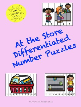 """At the Store"" Differentiated Number Puzzles"