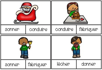 [Atelier de grammaire] Cartes à clip - Noël