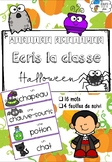 [Atelier écriture] Ecris la classe - Halloween