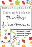 [Atelier lecture] Ordre alphabétique - feuilles d'automne
