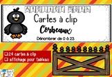 [Atelier math] Cartes à clip - Corbeaux