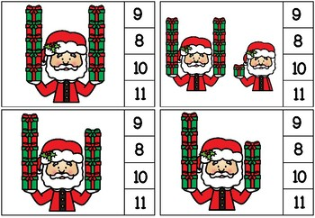 [Atelier math] Cartes à clip - Père Noël