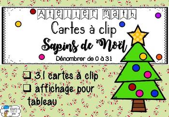 [Atelier math] Cartes à clip - Sapins de Noël