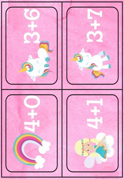 [Atelier math] Additions jusque 10 - Licorne