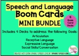 Speech and Language Skills BOOM CARDS MINI BUNDLE: 4 Decks