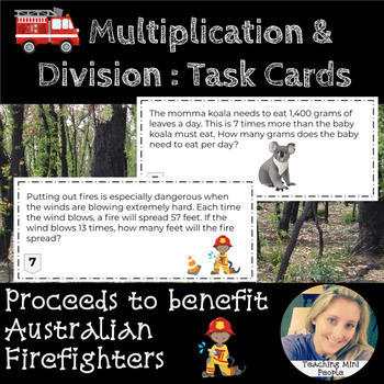 #AusTeacherBFR Multiplication and Division Task Cards