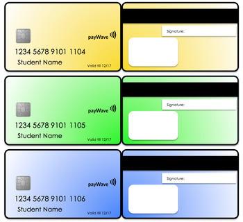 #Ausbts2017 EDITABLE Student Credit Cards