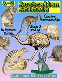 """Australian Animals"" Cursive Penmanship A-Z"