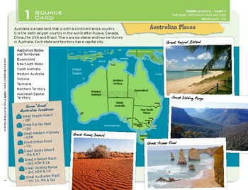 """Australian Places"" Year 3 Card 1 Australian Geography Centre"