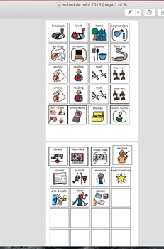 *Autism* Classroom Visual Schedule Supports