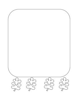 """Autumn Happy Leaf 2"" Writing Sheets!  Autumn FUN! (Black Line)"